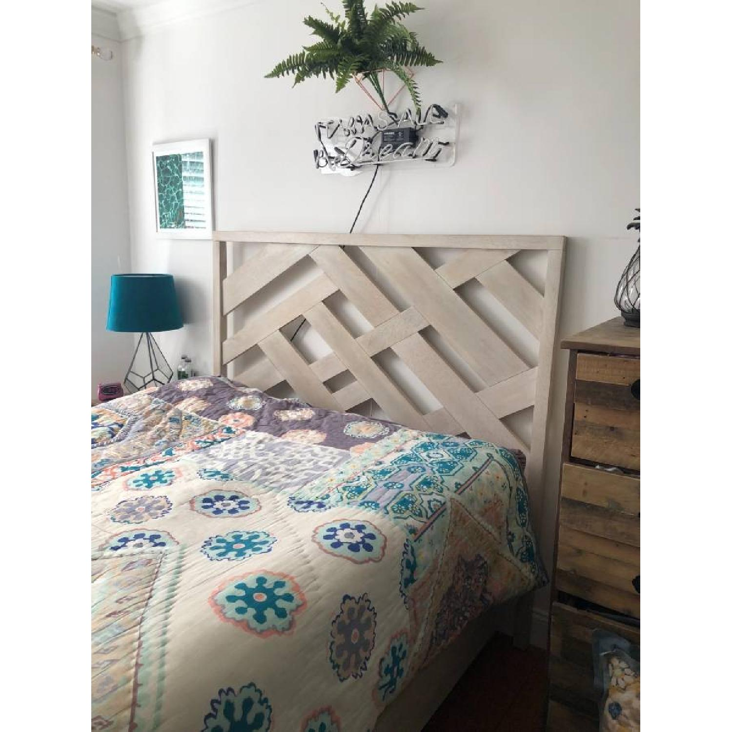 West Elm Reclaimed Wood Queen Bed Frame - image-2