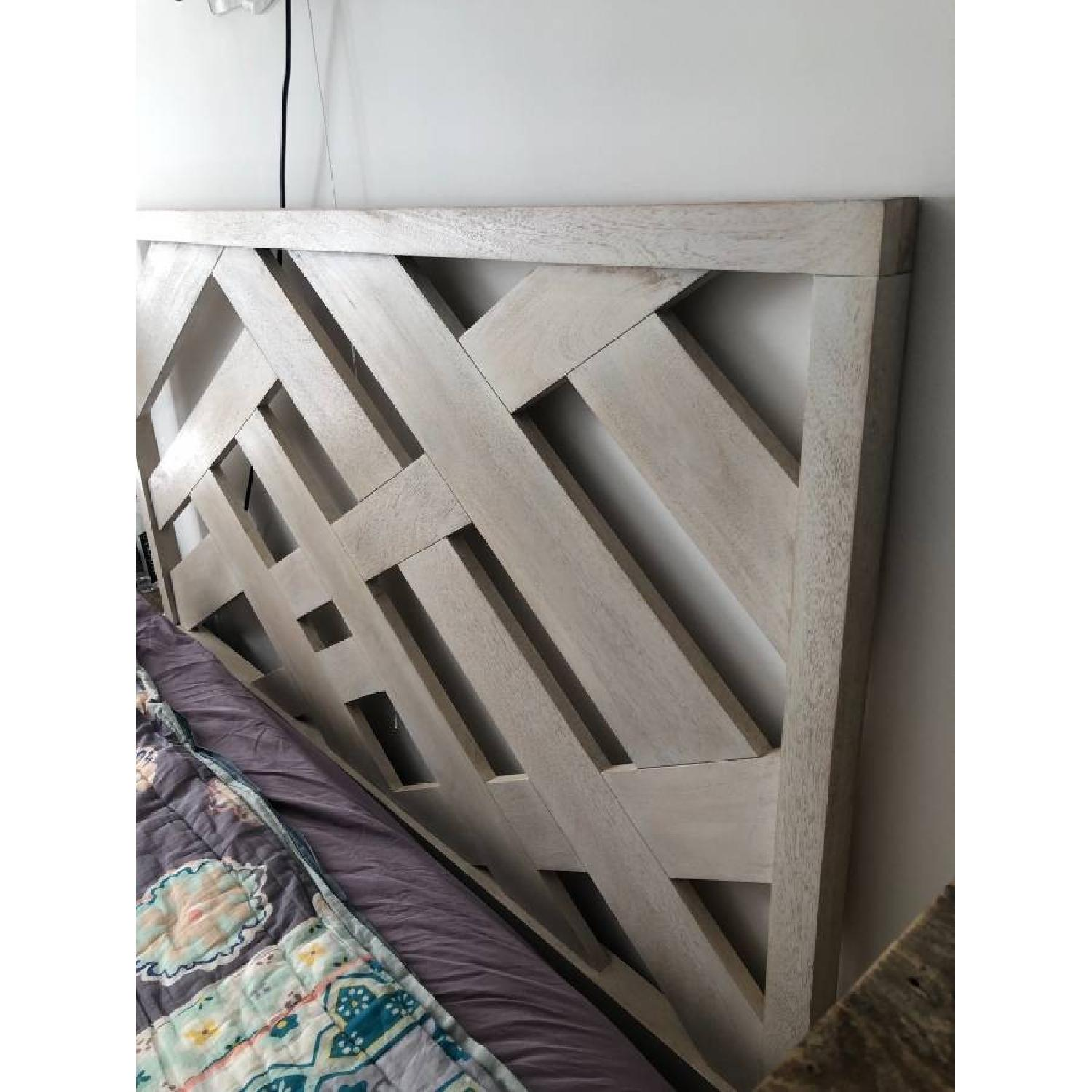 West Elm Reclaimed Wood Queen Bed Frame - image-5