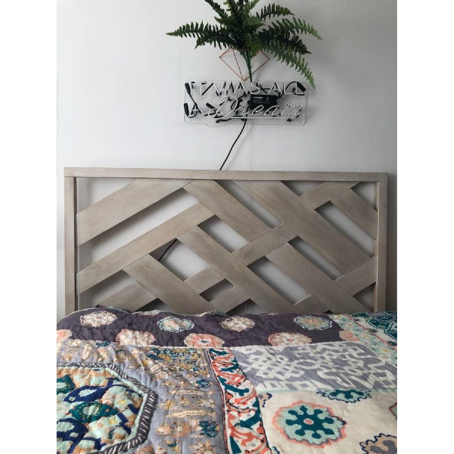West Elm Reclaimed Wood Queen Bed Frame - image-6