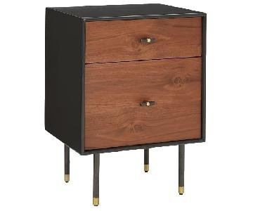 West Elm Modernist Wood+Lacquer Storage Nightstand