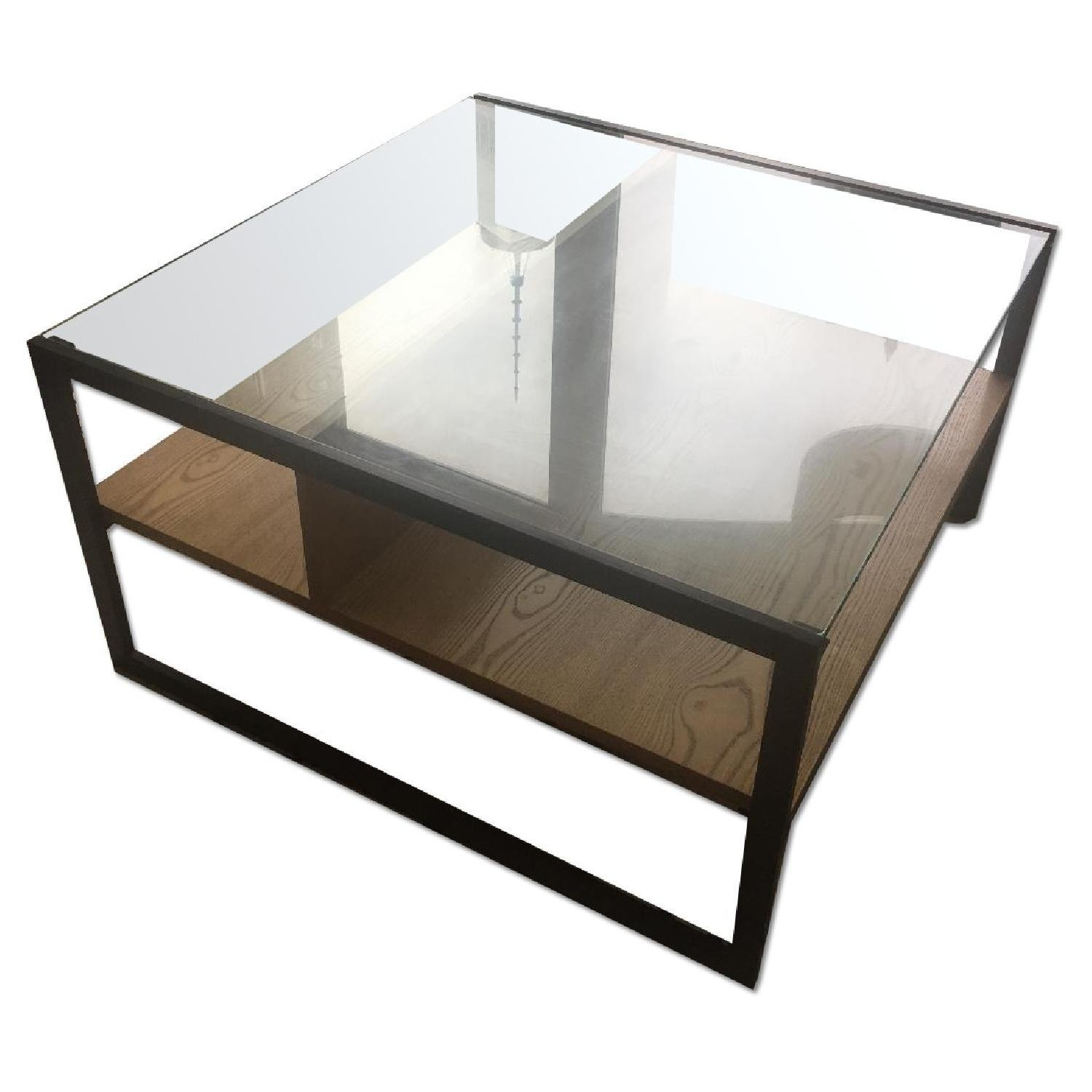 West Elm Glass Top Coffee Table
