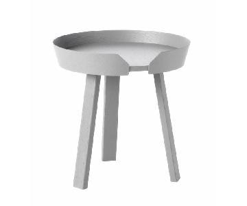 Muuto Around Round Coffee Table in Grey Wood