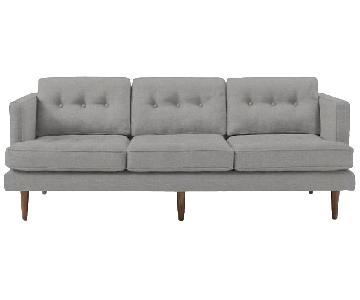 West Elm Heather Grey 3 Seater Sofa