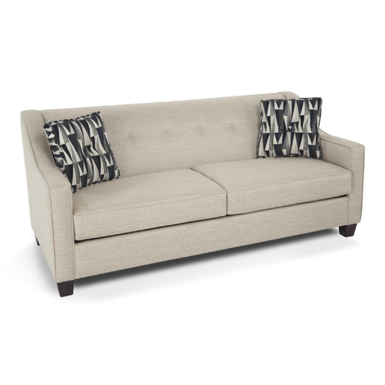 Bob S Colby Beige Fabric Sofa Aptdeco