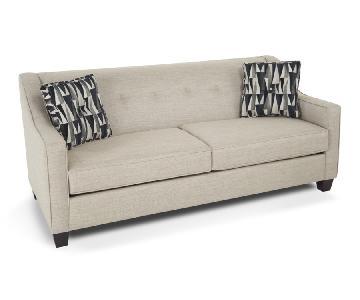 Bob's Colby Beige Fabric Sofa