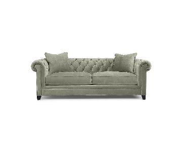 Macy's Martha Stewart Fabric Sofa in Bella Storm Grey