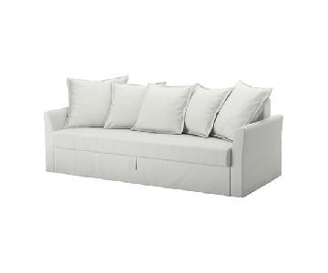 Ikea Holmsund Sleeper Sofa in Orrsta Light White/Grey