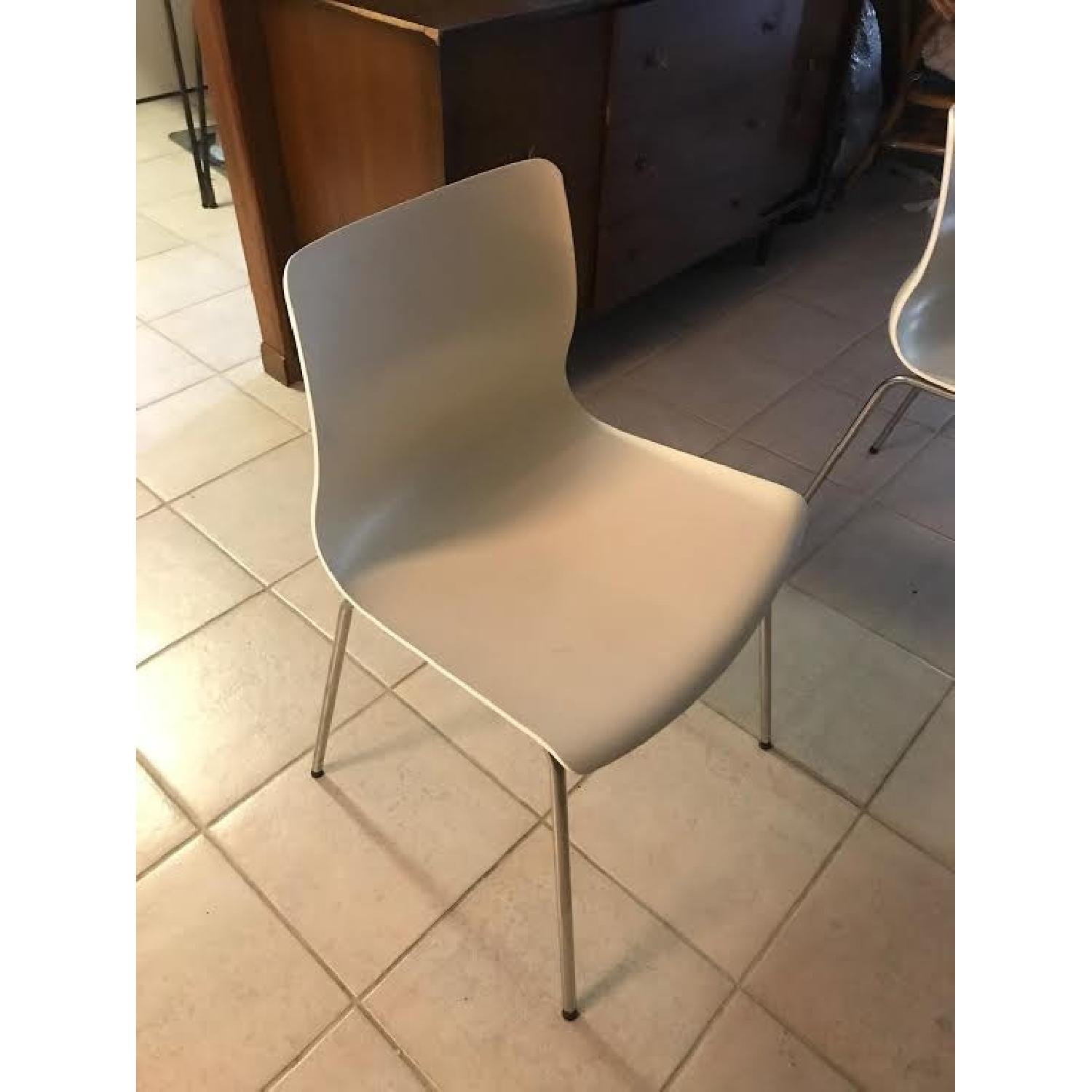 Ikea White Dining Chairs - image-1