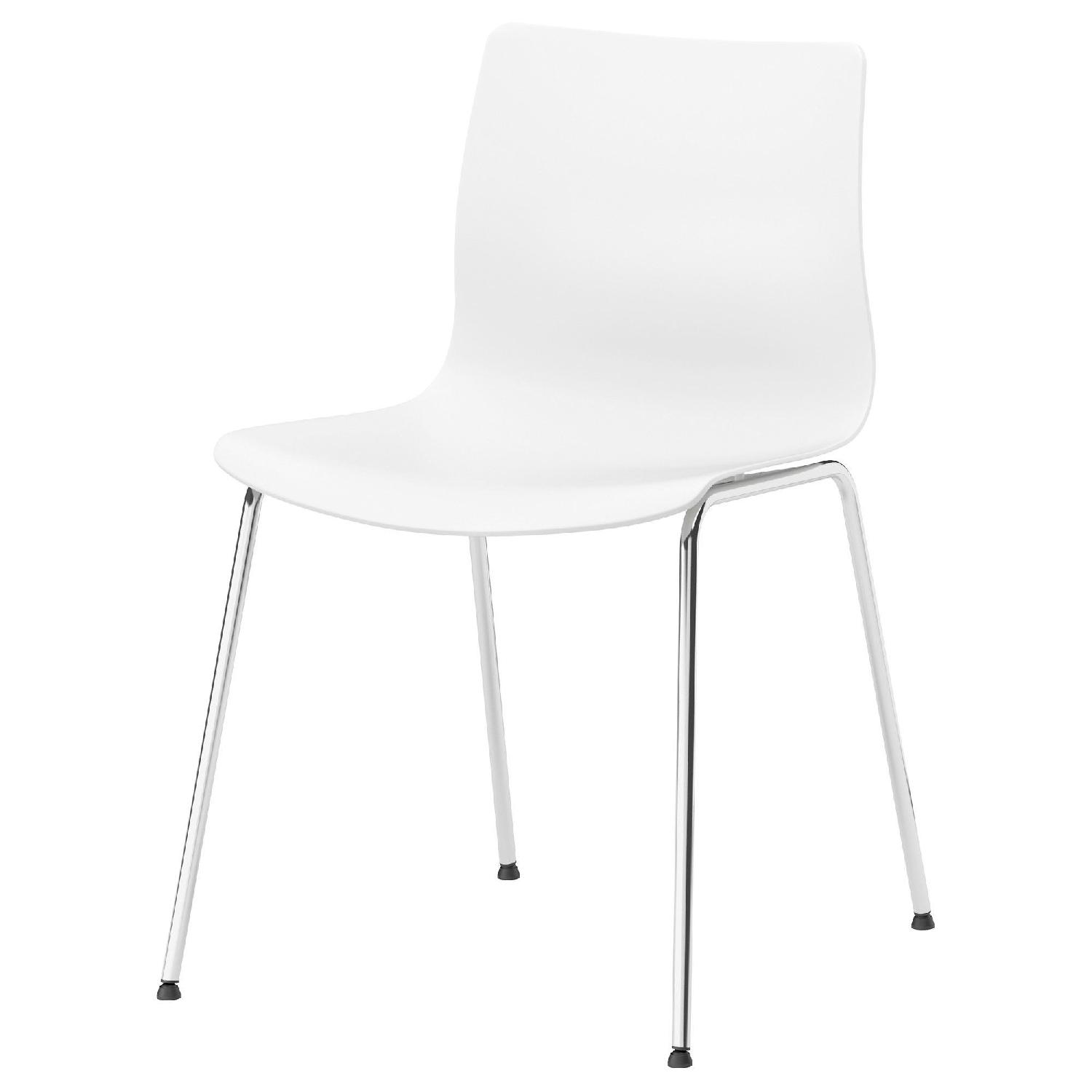 Ikea White Dining Chairs - image-0