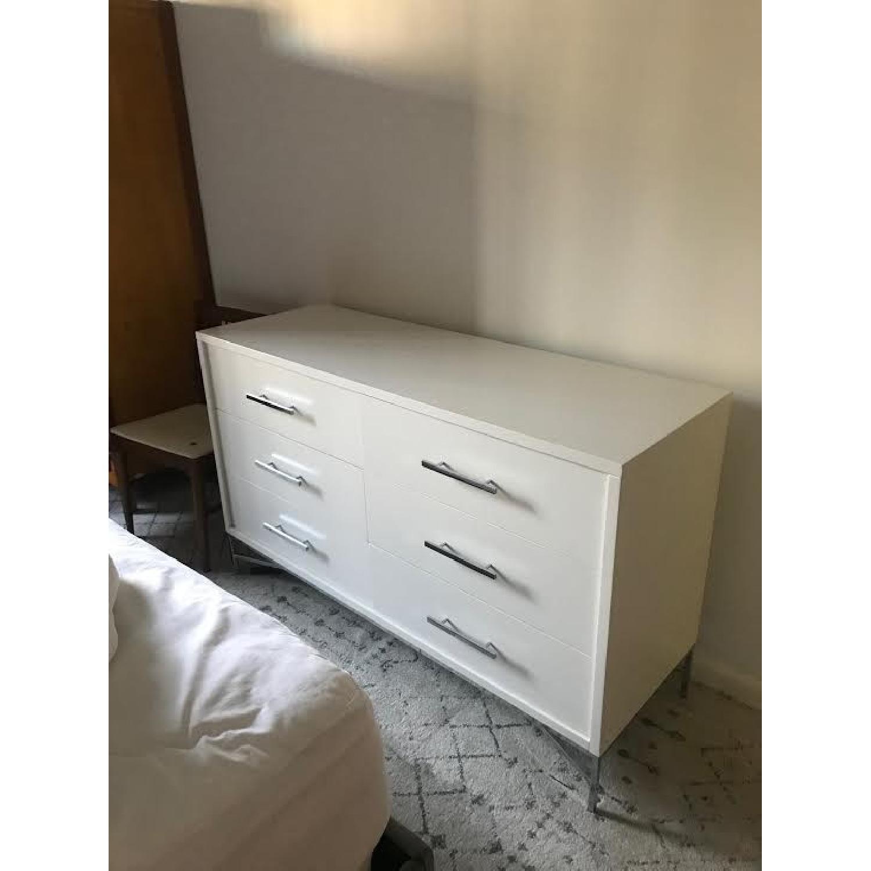 West Elm White 6 Drawer Dresser - image-2