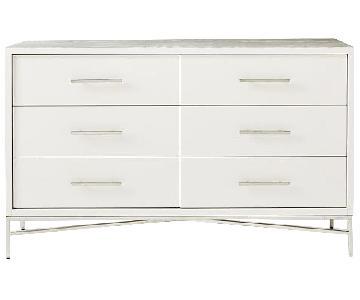 West Elm White 6 Drawer Dresser