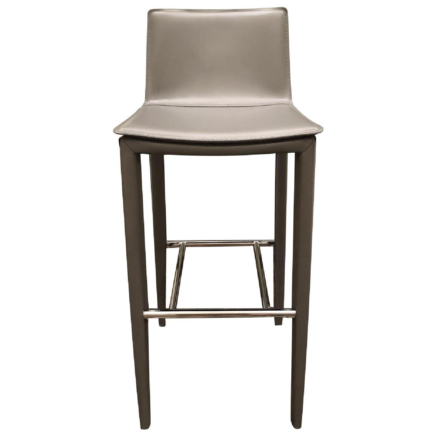 Cite NYC Bonded Leather Bar Stools - image-0