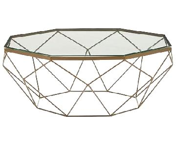 West Elm Geometric Coffee Table