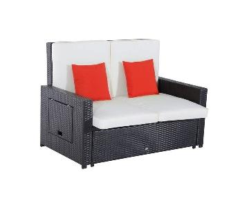 Outsunny Outdoor/Patio Loveseat & Ottoman