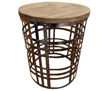 Metal & Wood Side Table