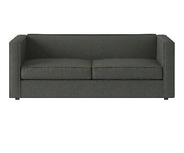 CB2 Club Sofa in Charcoal