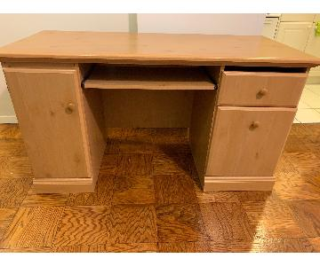 Light Brown Wood Desk