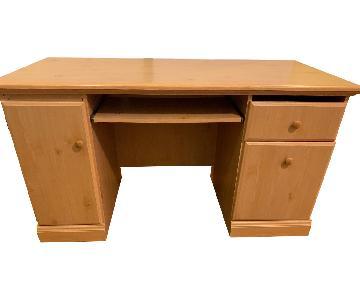 Light Brown Wood Desk