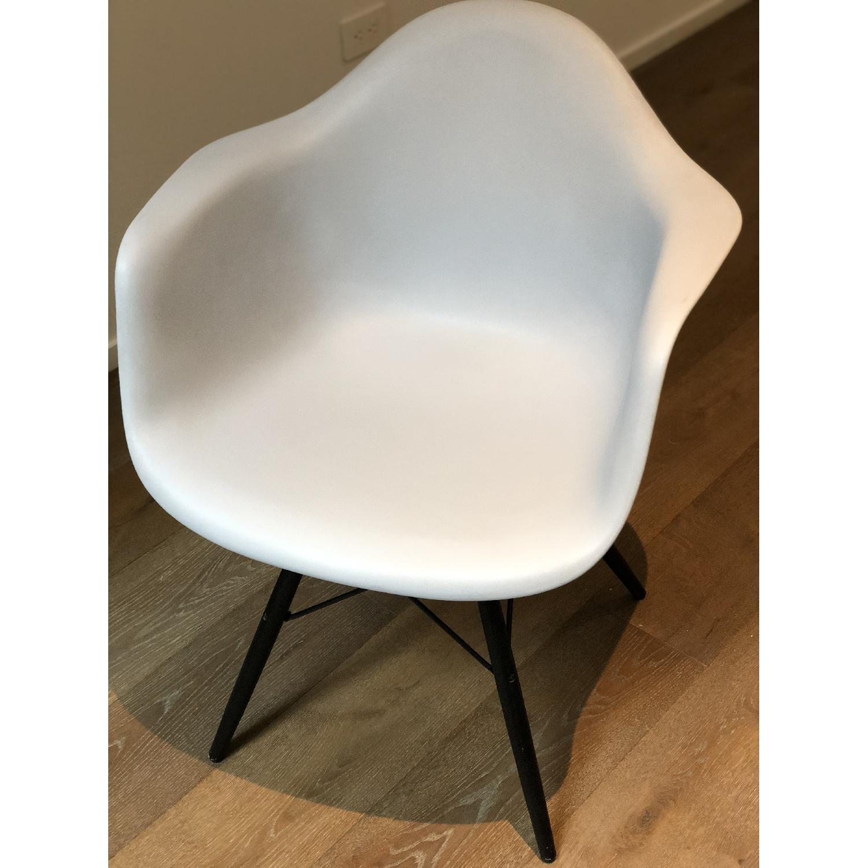 Eames Molded Plastic DAW Dowel-Leg Armchair-0