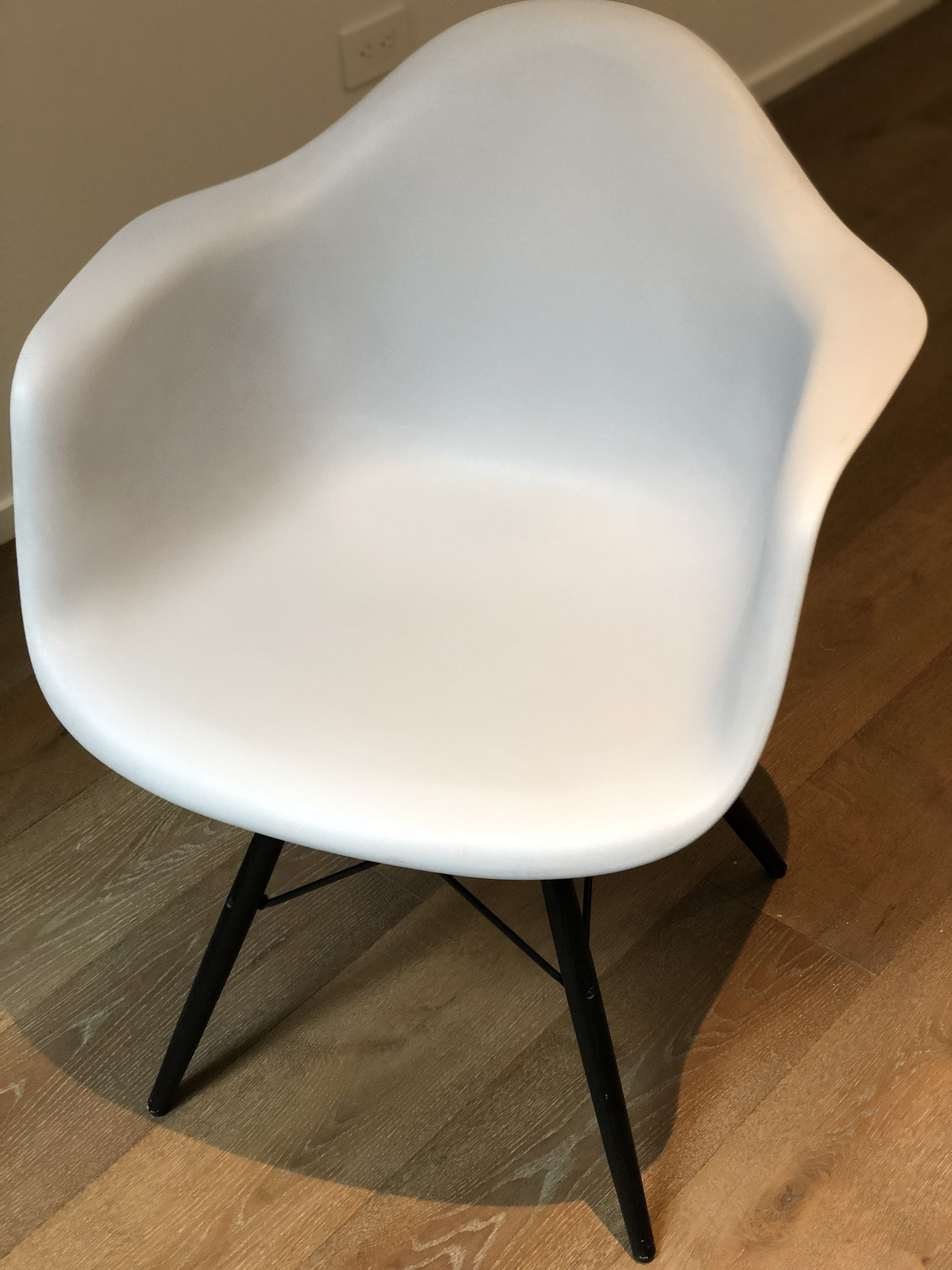 Eames Molded Plastic DAW Dowel-Leg Armchair