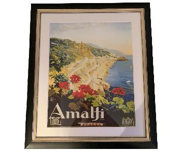 Amalfi Coast Vintage Framed Print