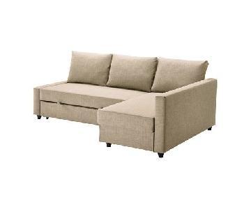 Ikea Friheten Sleeper Sectional Sofa w/ Storage & 3 Pillows