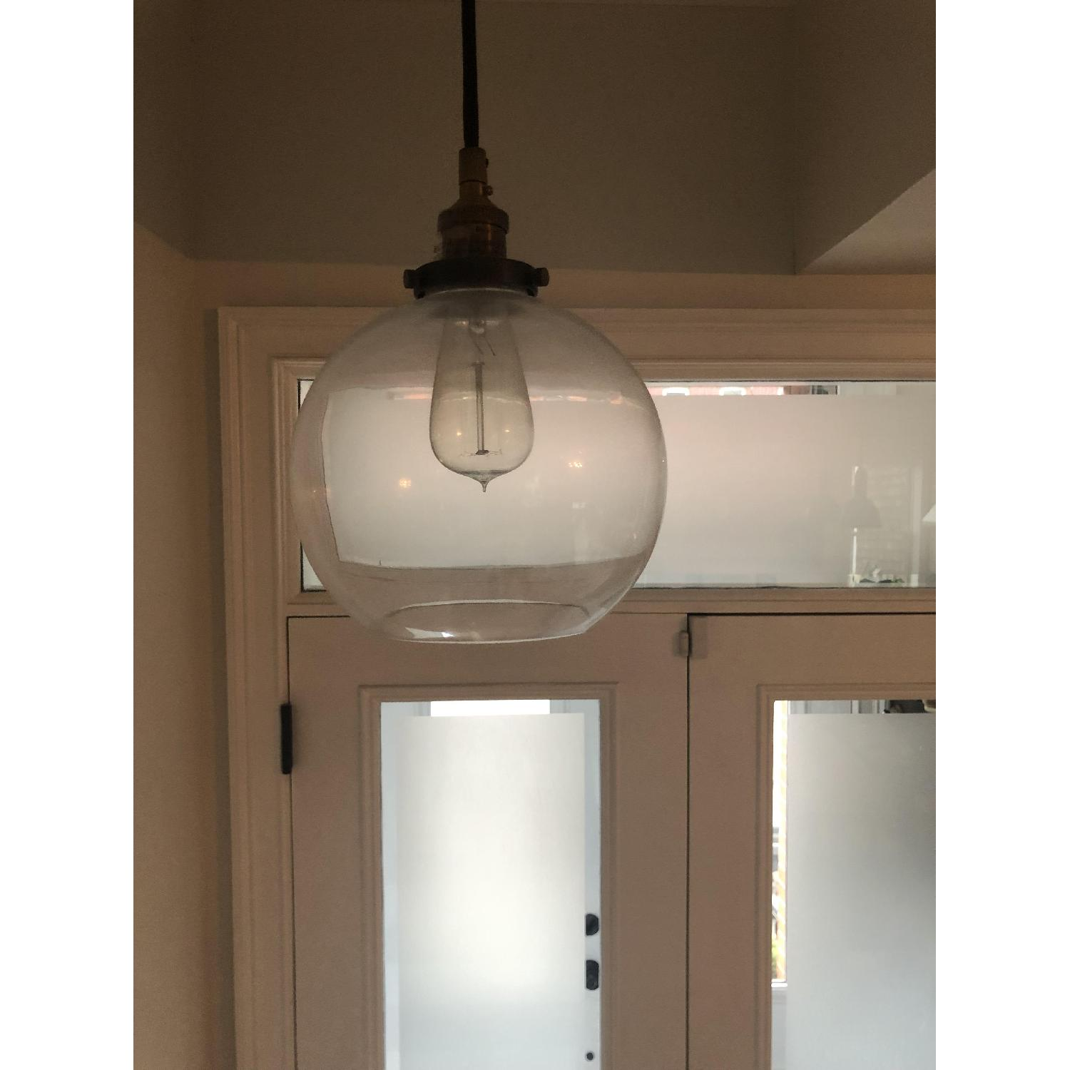 Restoration Hardware Clear Glass Cafe Pendant-0