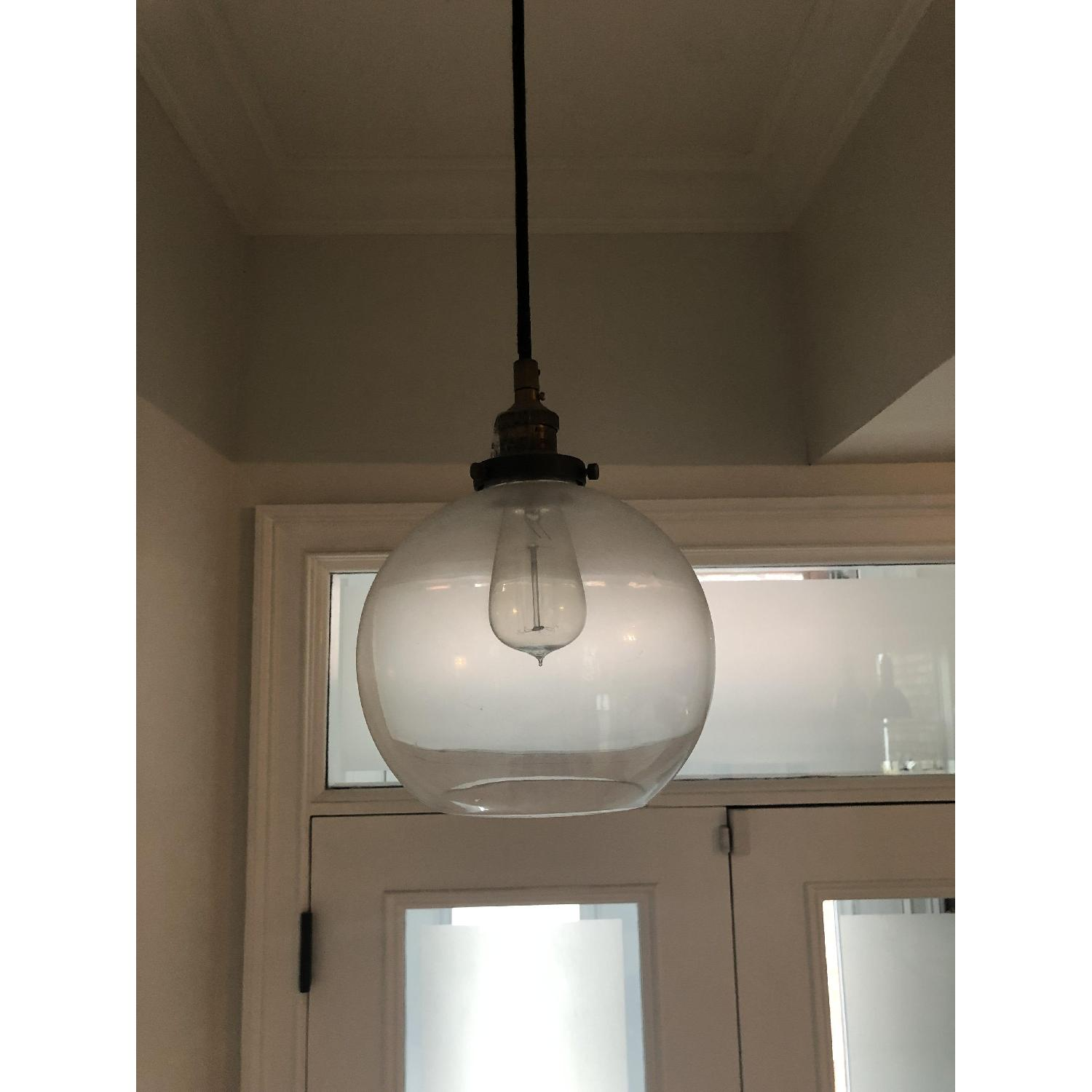 Restoration Hardware Clear Glass Cafe Pendant-2