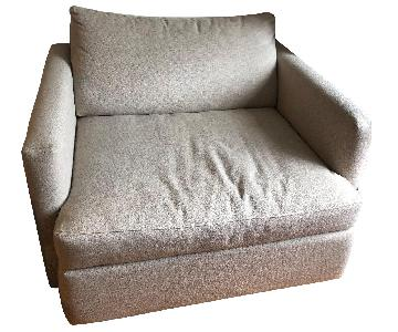 Down Filled Chair and a Half