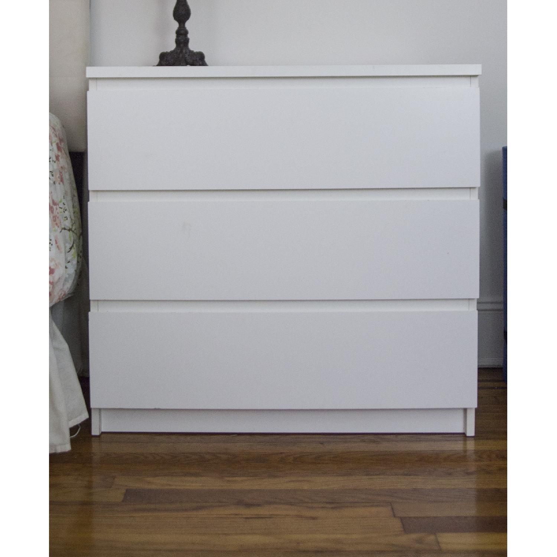 Superieur ... Ikea Malm Three Drawer White Dresser 0 ...