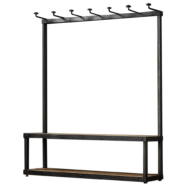 Restoration Hardware Wood & Iron Rack Bench - image-0