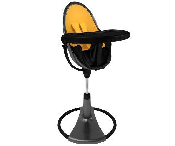 Bloom Fresco Highchair in Black w/ Yellow Seat Liners