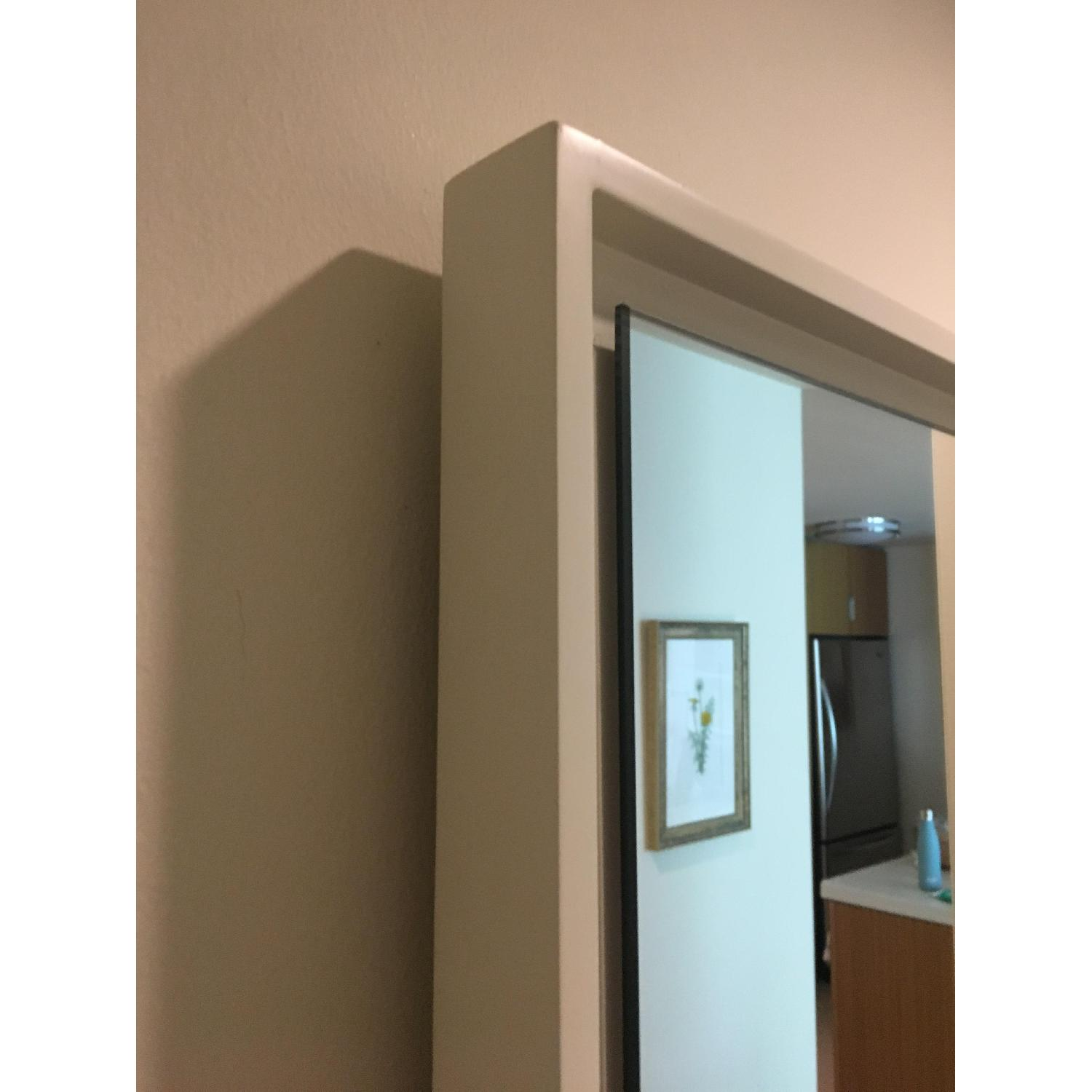 West Elm Floating Wood Wall Mirror in White - image-2