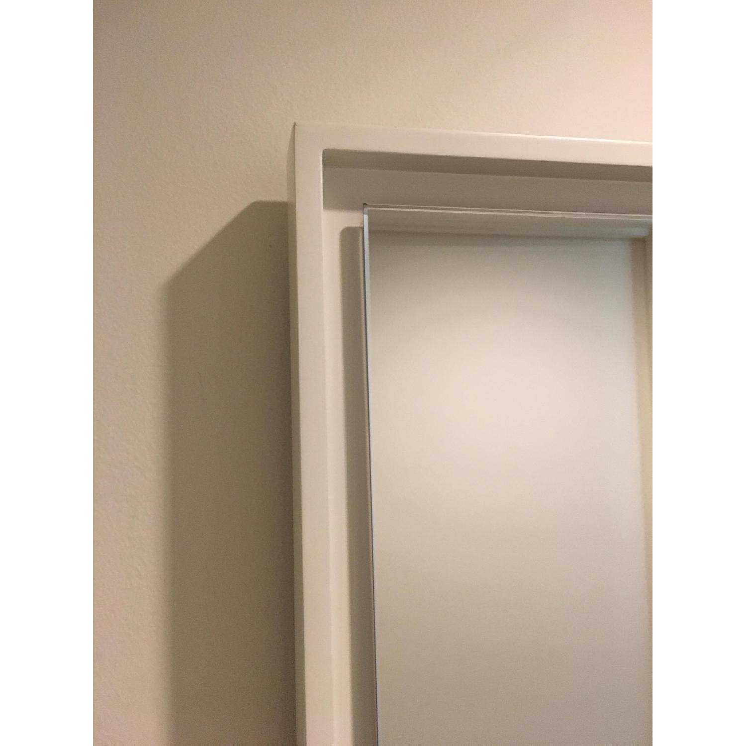 West Elm Floating Wood Wall Mirror in White - image-3