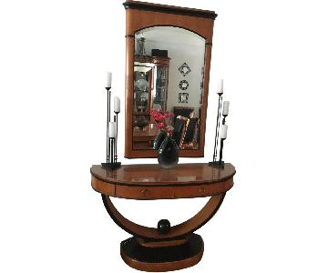 National Mt. Airy Art Deco Style Server & Mirror