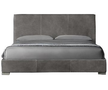 Restoration Hardware Leather Platform Bed