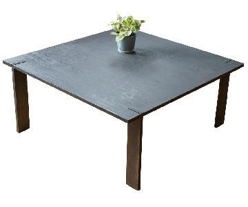 Custom Black Stain Plywood Coffee Table