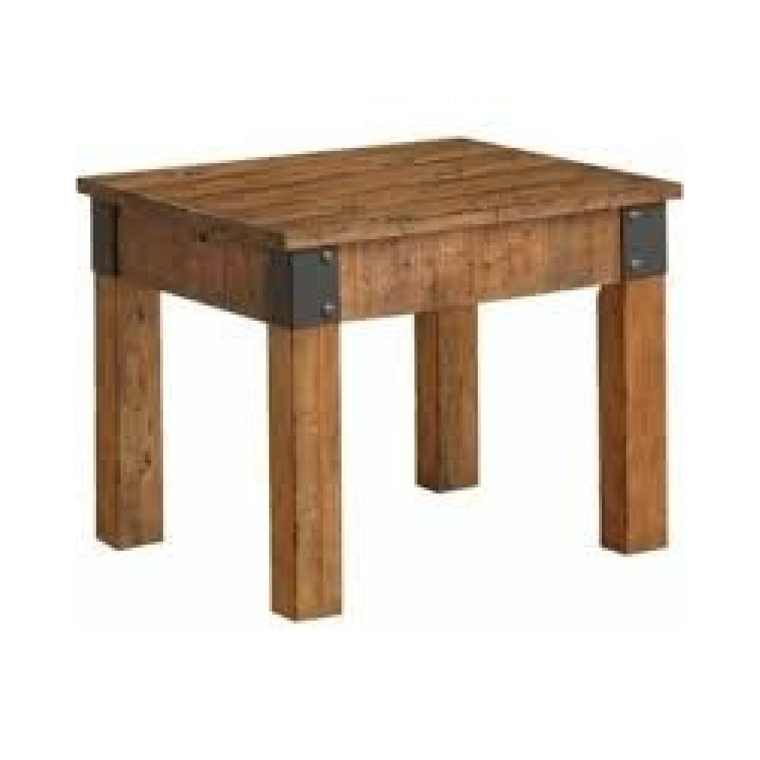 Rustic End Table - image-0