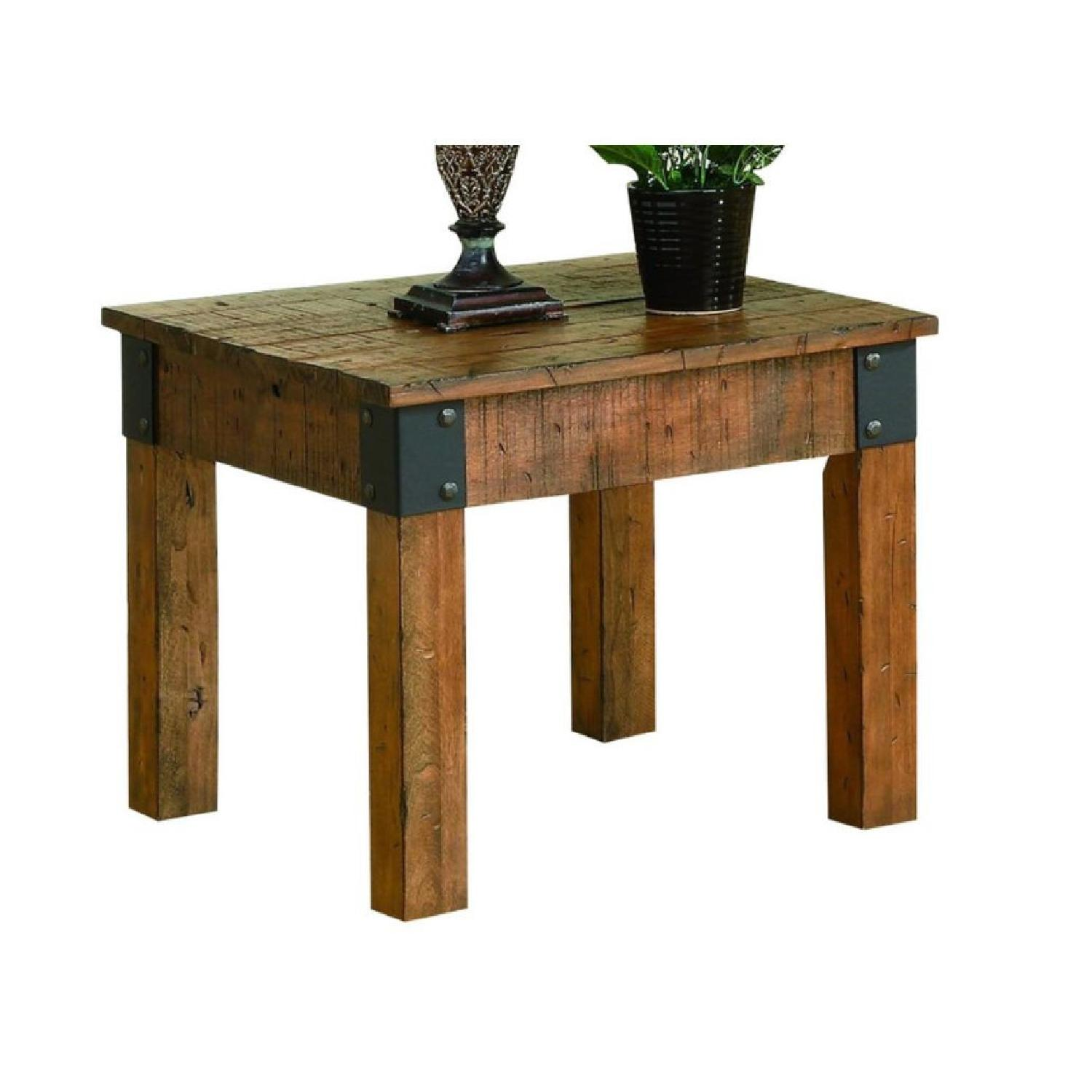 Rustic End Table - image-2