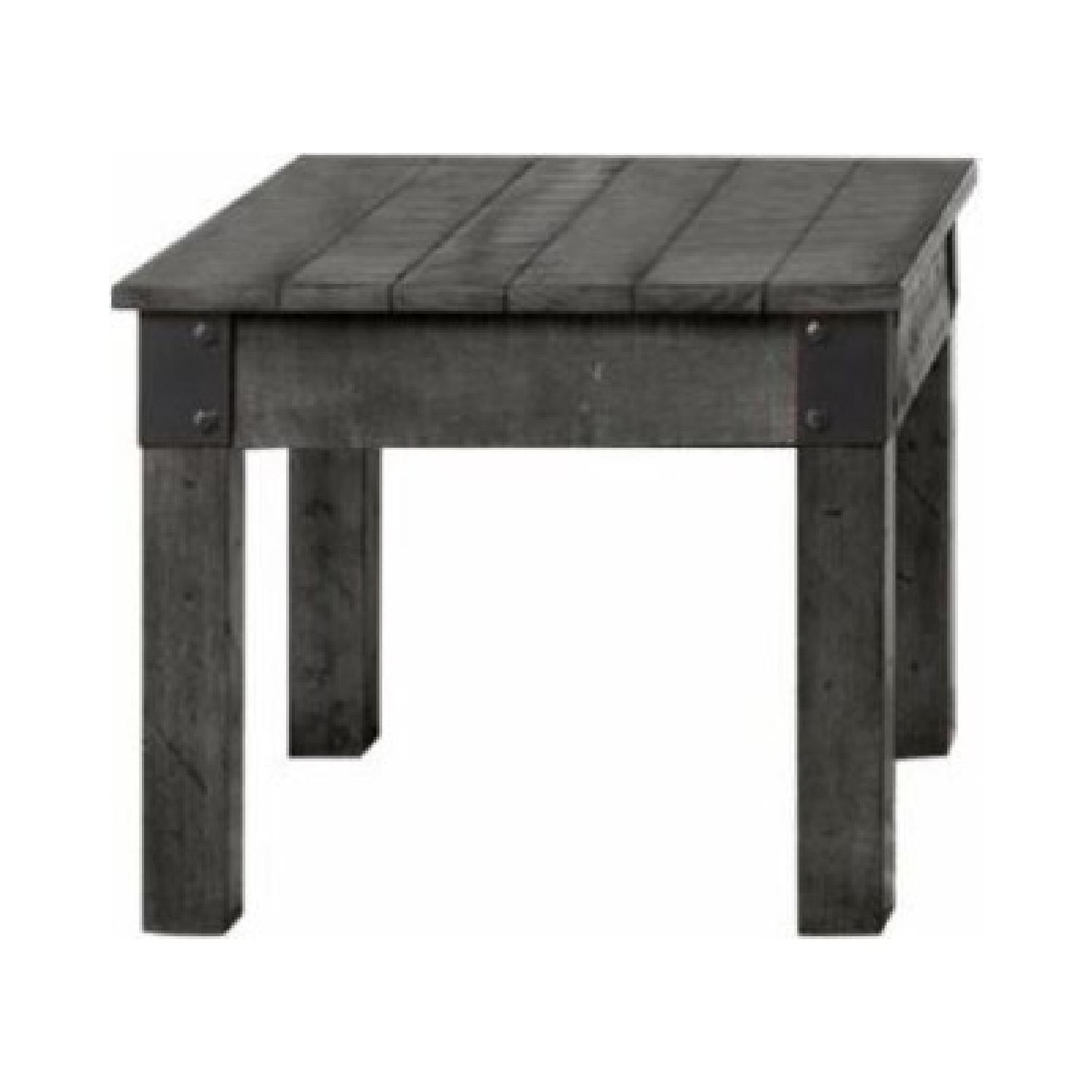 Rustic Grey End Table - image-0