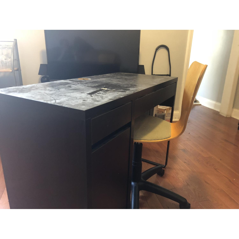 Black Computer Desk w/ Optional Chair - image-2