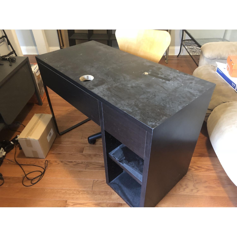 Black Computer Desk w/ Optional Chair - image-3