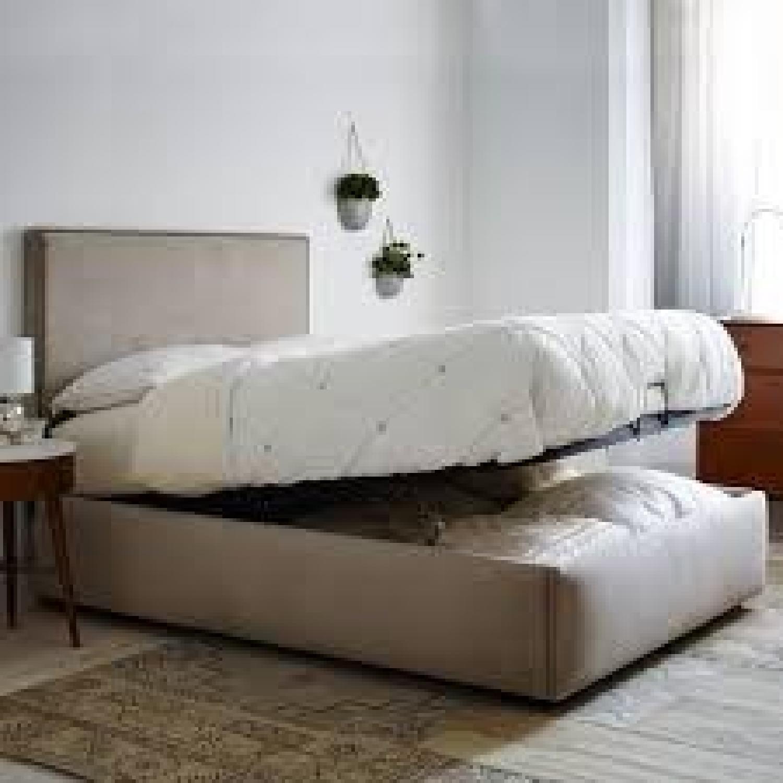 West Elm Full Storage Bed Frame in Natural - image-0