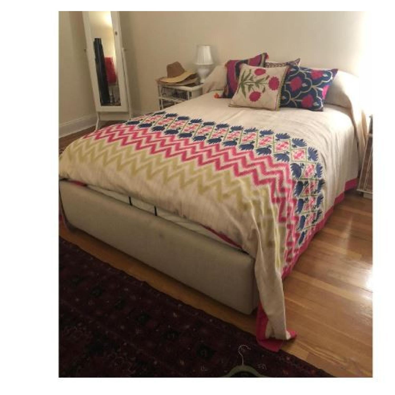 West Elm Full Storage Bed Frame in Natural - image-1