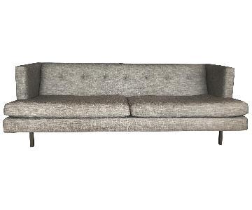CB2 Avec Grey Sofa w/ Steel Legs + 2 Chairs