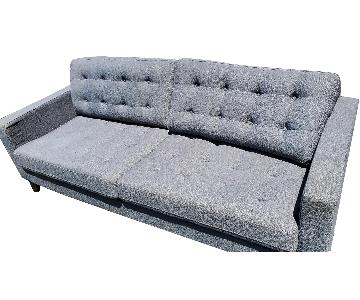 Pier 1 Nyle Collection Graphite Gray Sofa + 4 Chairs