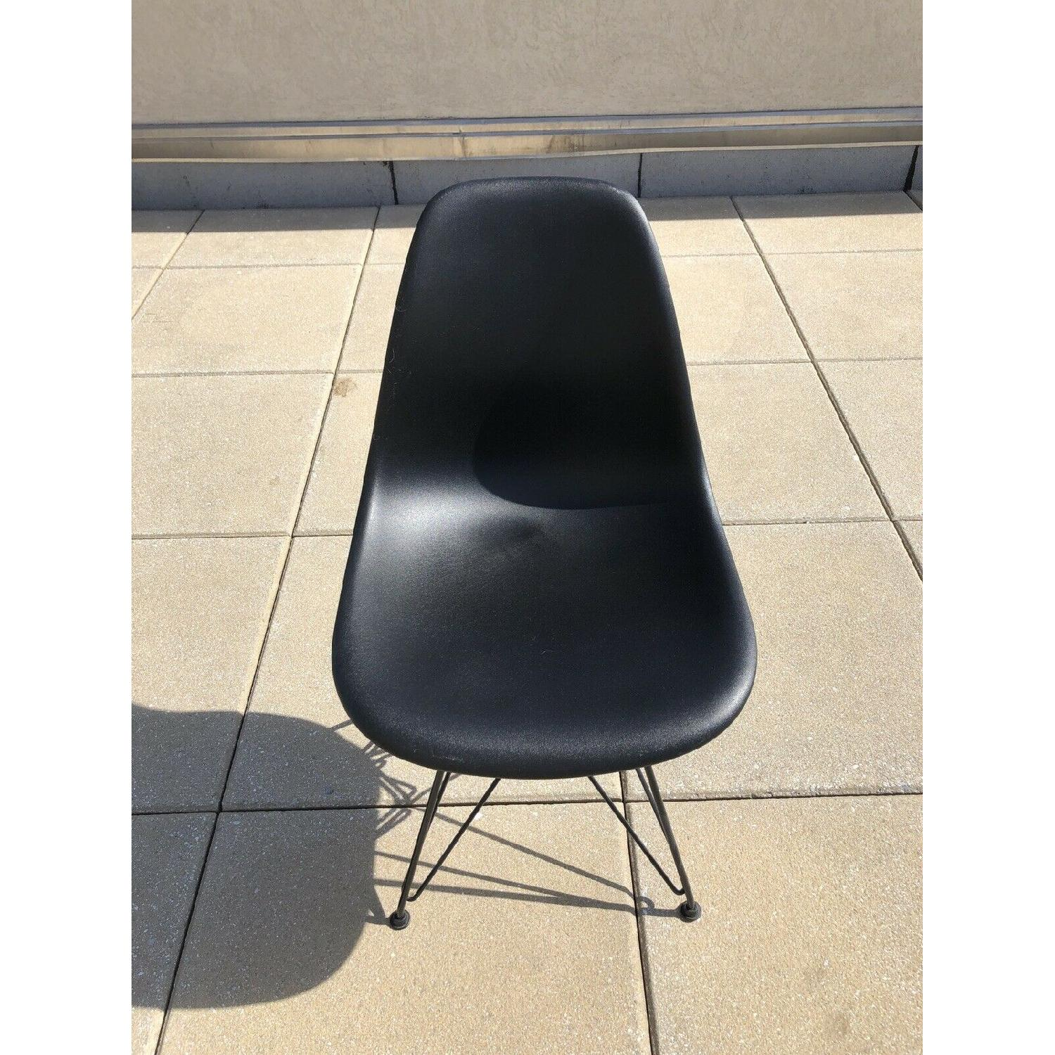 Eames Molded Plastic Black Wire Base Side Chairs - image-1