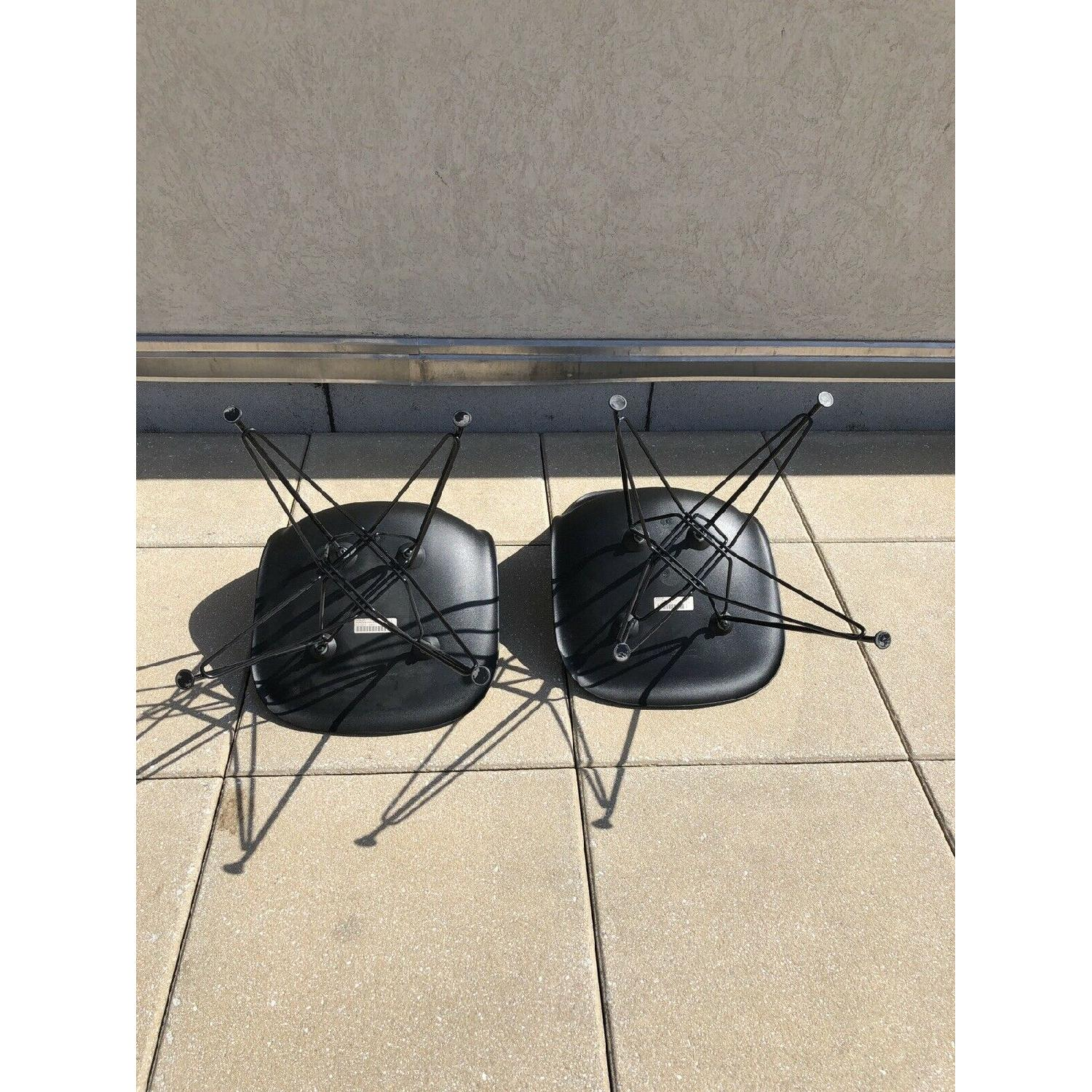 Eames Molded Plastic Black Wire Base Side Chairs - image-4