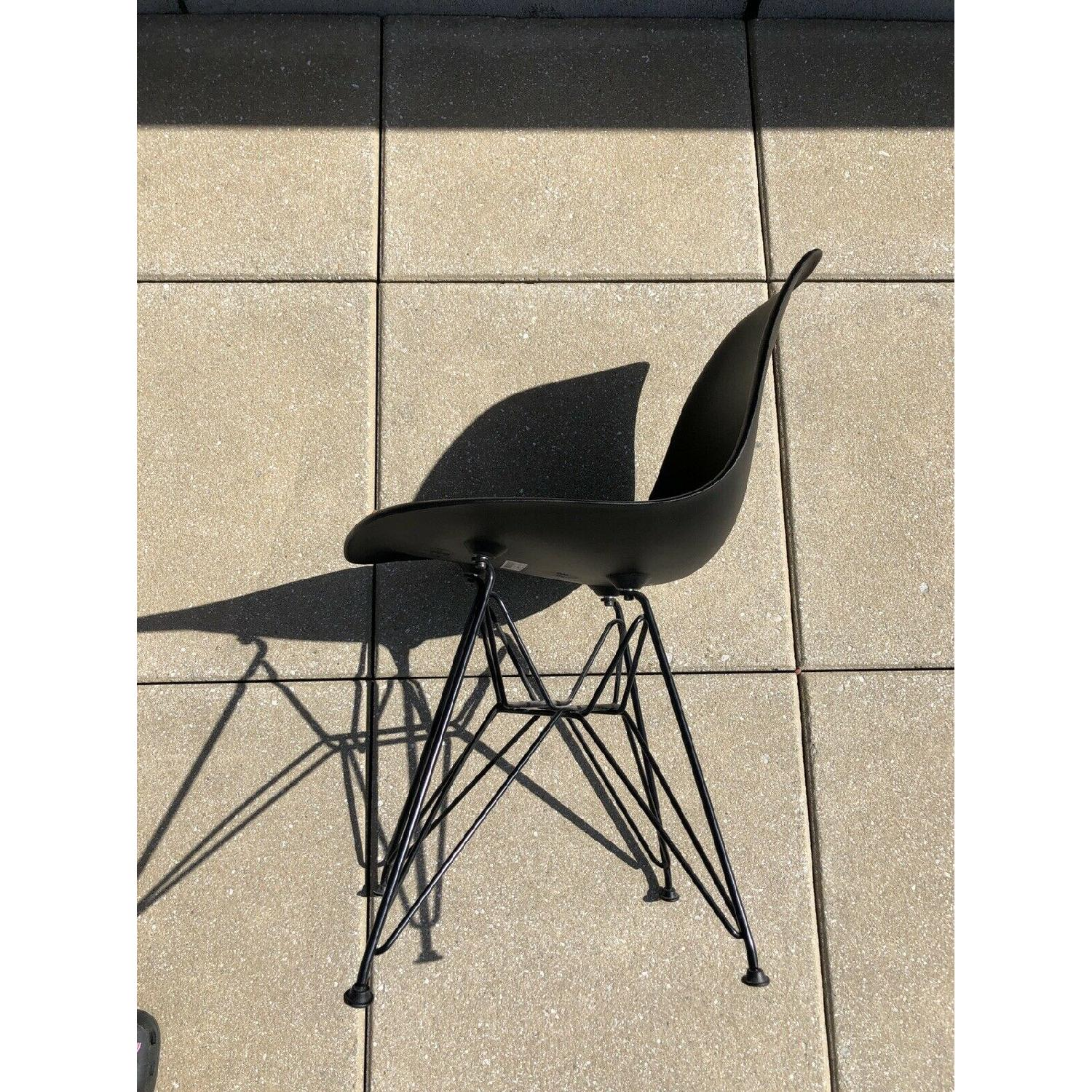 Eames Molded Plastic Black Wire Base Side Chairs - image-6