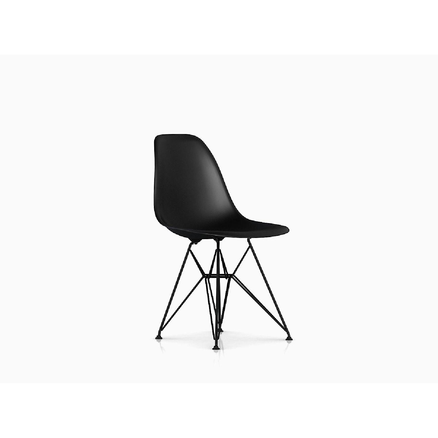 Eames Molded Plastic Black Wire Base Side Chairs - image-7